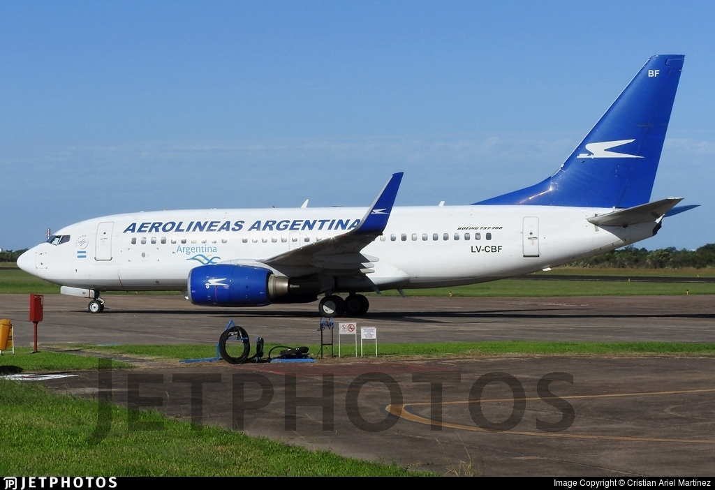 LV-CBF - Boeing 737-76N - Aerolíneas Argentinas