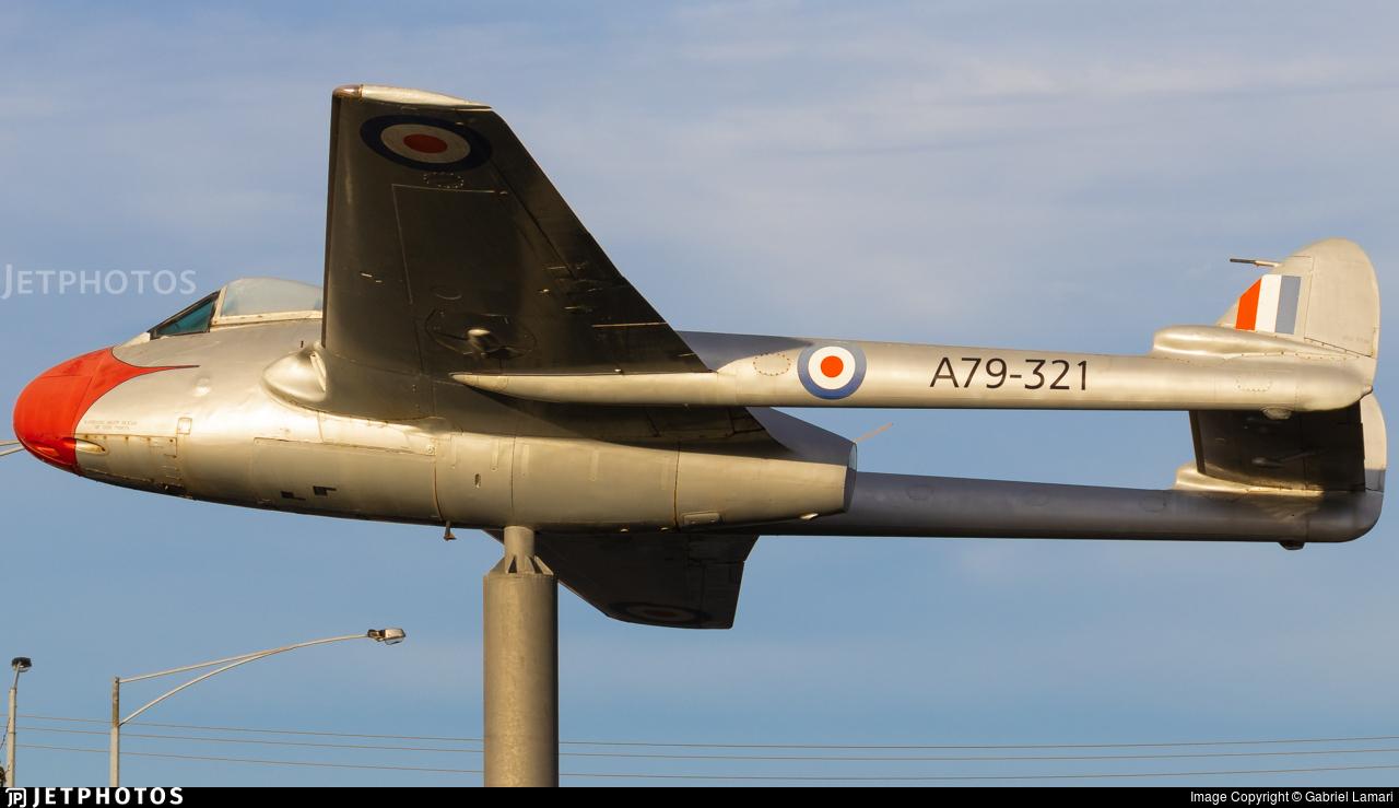 A79-321 - De Havilland DH-115 Vampire - Australia - Royal Australian Air Force (RAAF)