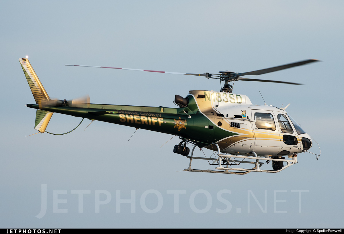 N183SD - Eurocopter AS 350B2 Ecureuil - United States - Orange County Sheriff Department, California