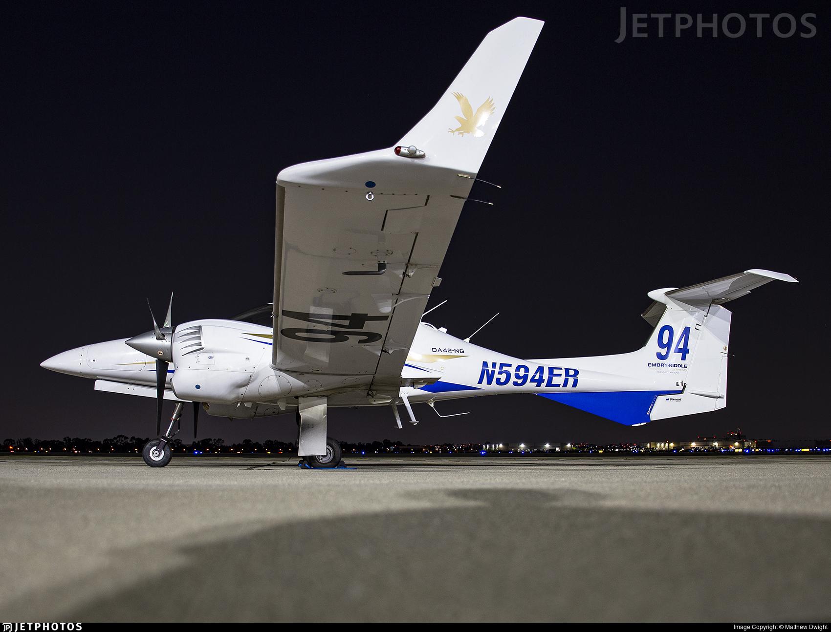 N594ER - Diamond DA-42 NG Twin Star - Embry-Riddle Aeronautical University (ERAU)