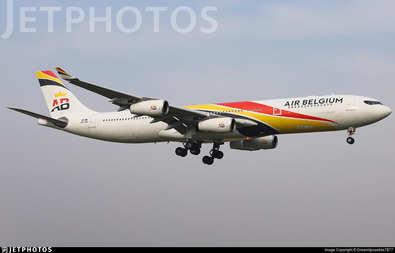 OO-ABA - Airbus A340-313E - Air Belgium