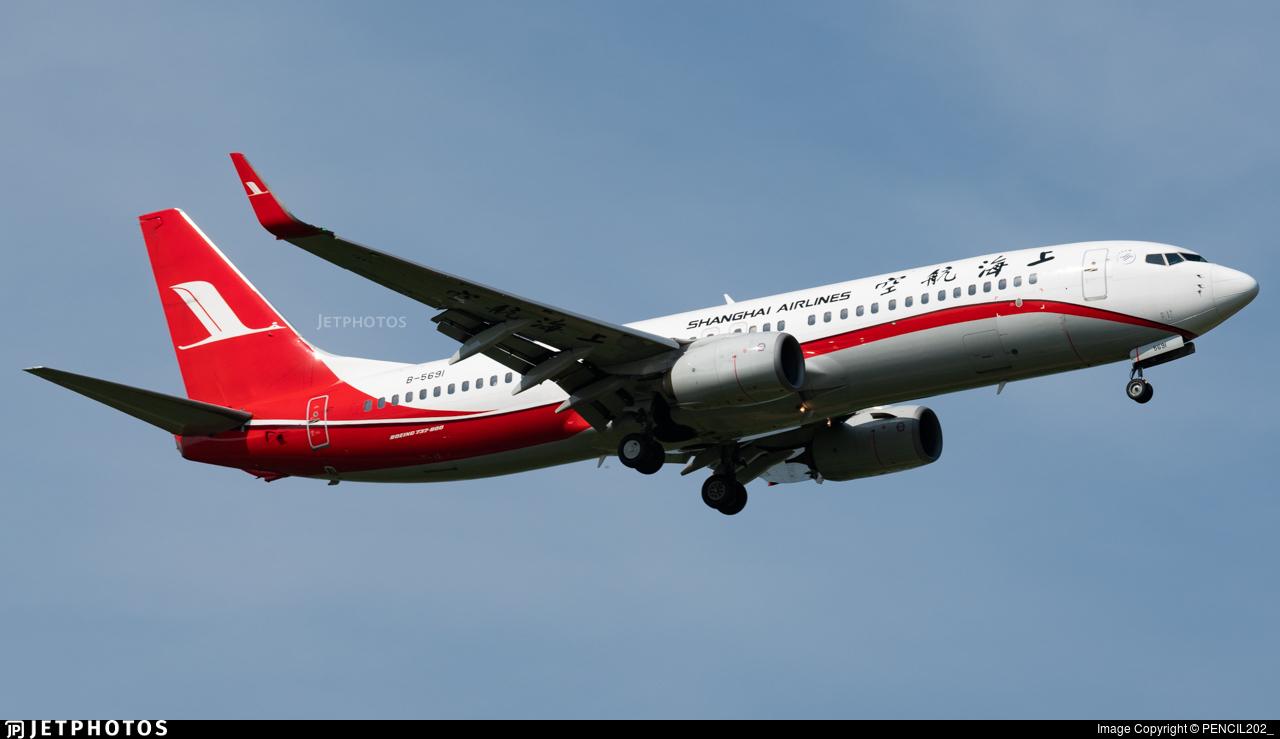 B-5691 - Boeing 737-86N - Shanghai Airlines