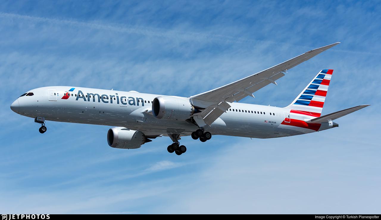N826an Boeing 787 9 Dreamliner American Airlines