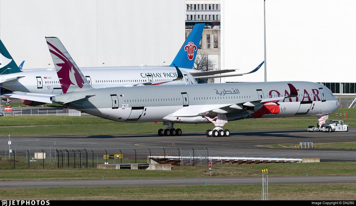 F-WZFJ - Airbus A350-1041 - Qatar Airways