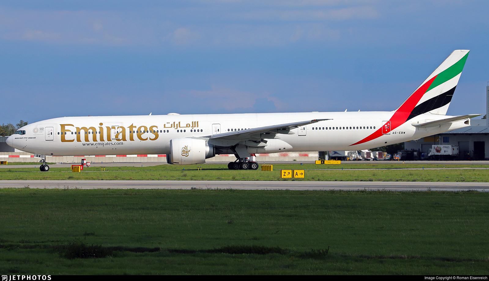 A6-EBW - Boeing 777-36NER - Emirates