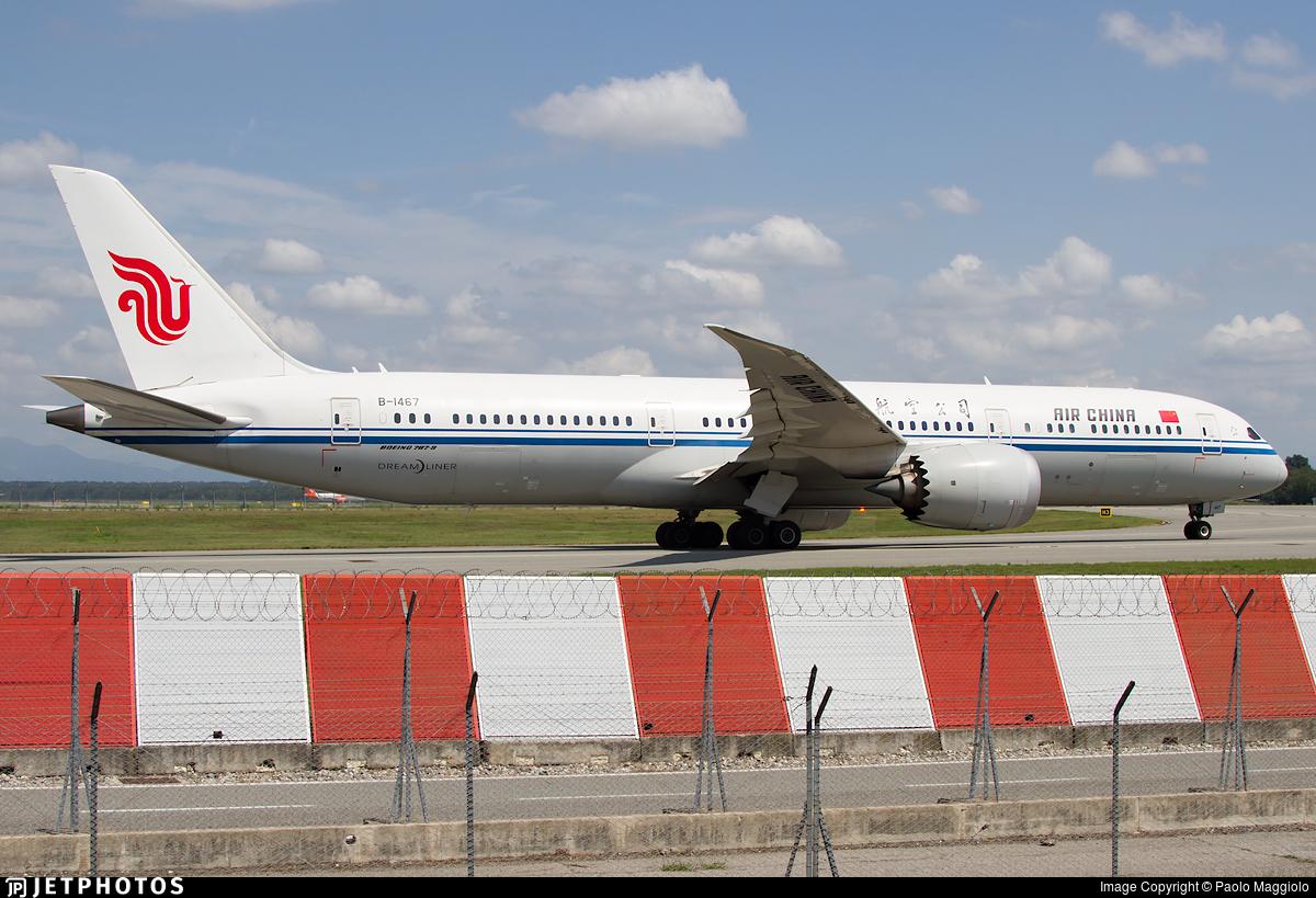 B-1467 - Boeing 787-9 Dreamliner - Air China