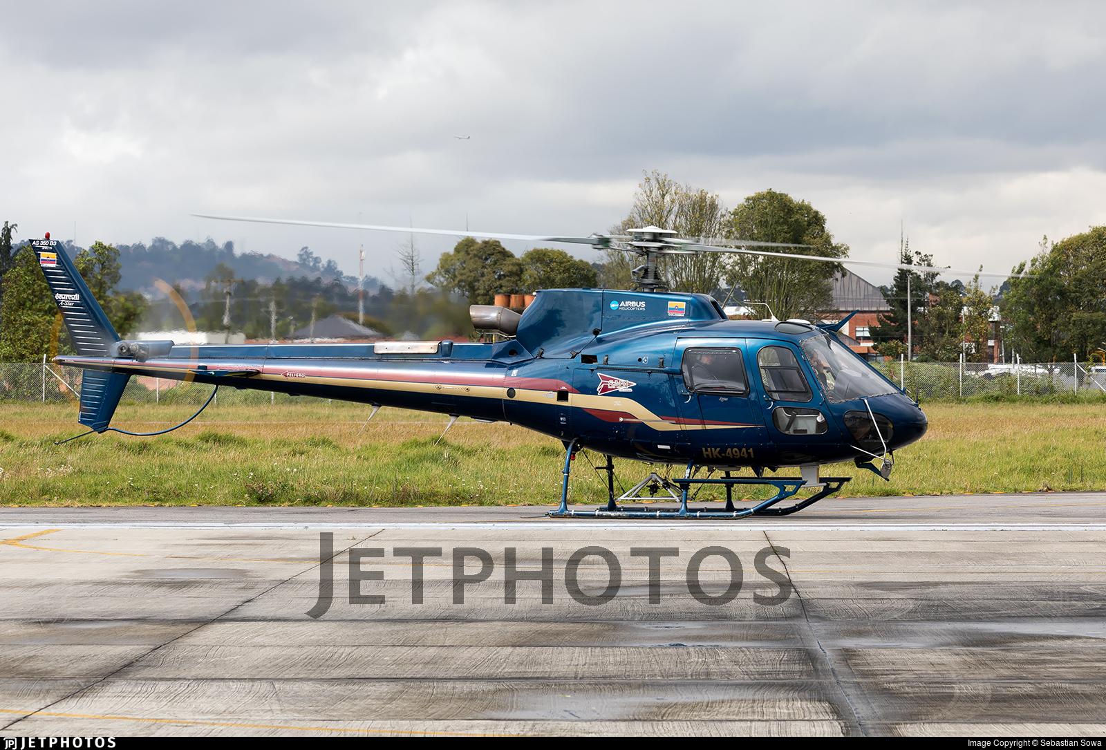 HK-4941 - Eurocopter AS 350 Ecureuil - SADI Colombia (Servicios Aereos de Ibague)