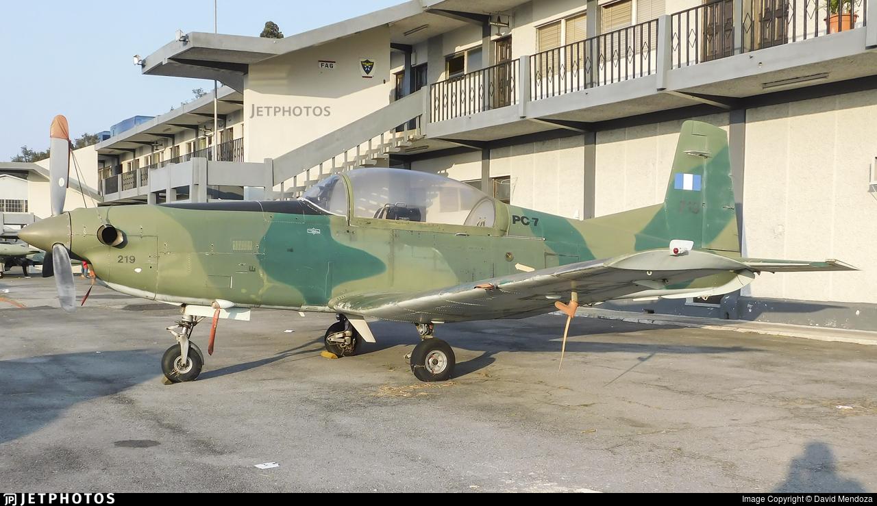 219 - Pilatus PC-7 - Guatemala - Air Force