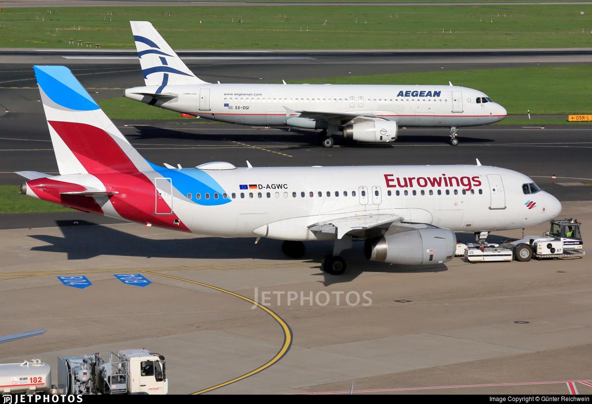 D-AGWC - Airbus A319-132 - Eurowings