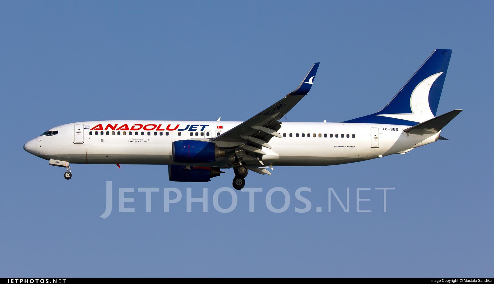 TC-SBG - Boeing 737-86J - AnadoluJet