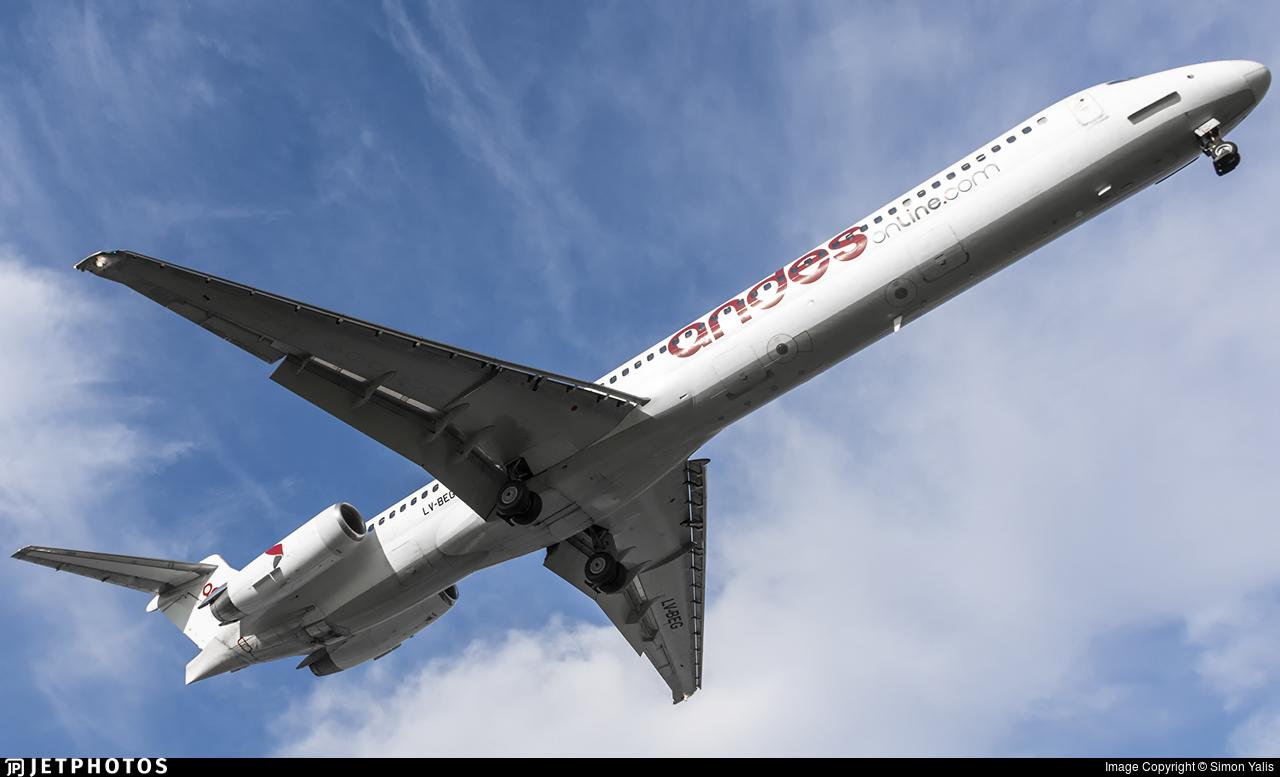 LV-BEG - McDonnell Douglas MD-83 - Andes Líneas Aéreas