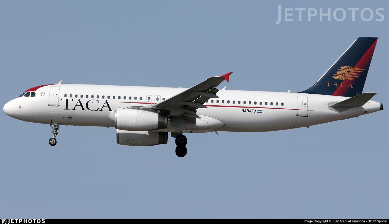 N494TA - Airbus A320-233 - TACA International Airlines