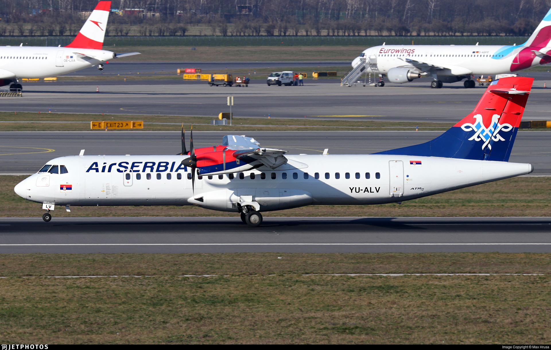 YU-ALV - ATR 72-212A(500) - Air Serbia