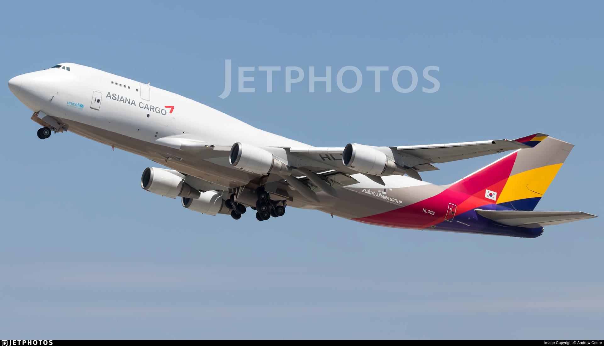 HL7413 | Boeing 747-48E(BDSF) | Asiana Cargo | Andrew ...