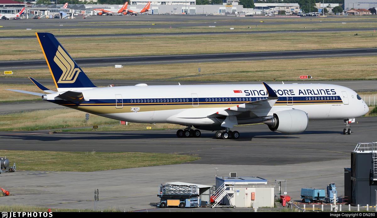 F-WZFL - Airbus A350-941 - Singapore Airlines