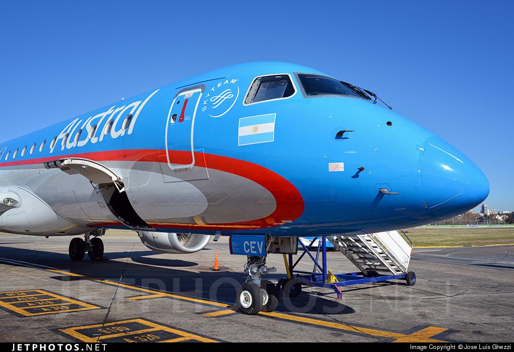 LV-CEV - Embraer 190-100IGW - Austral Líneas Aéreas