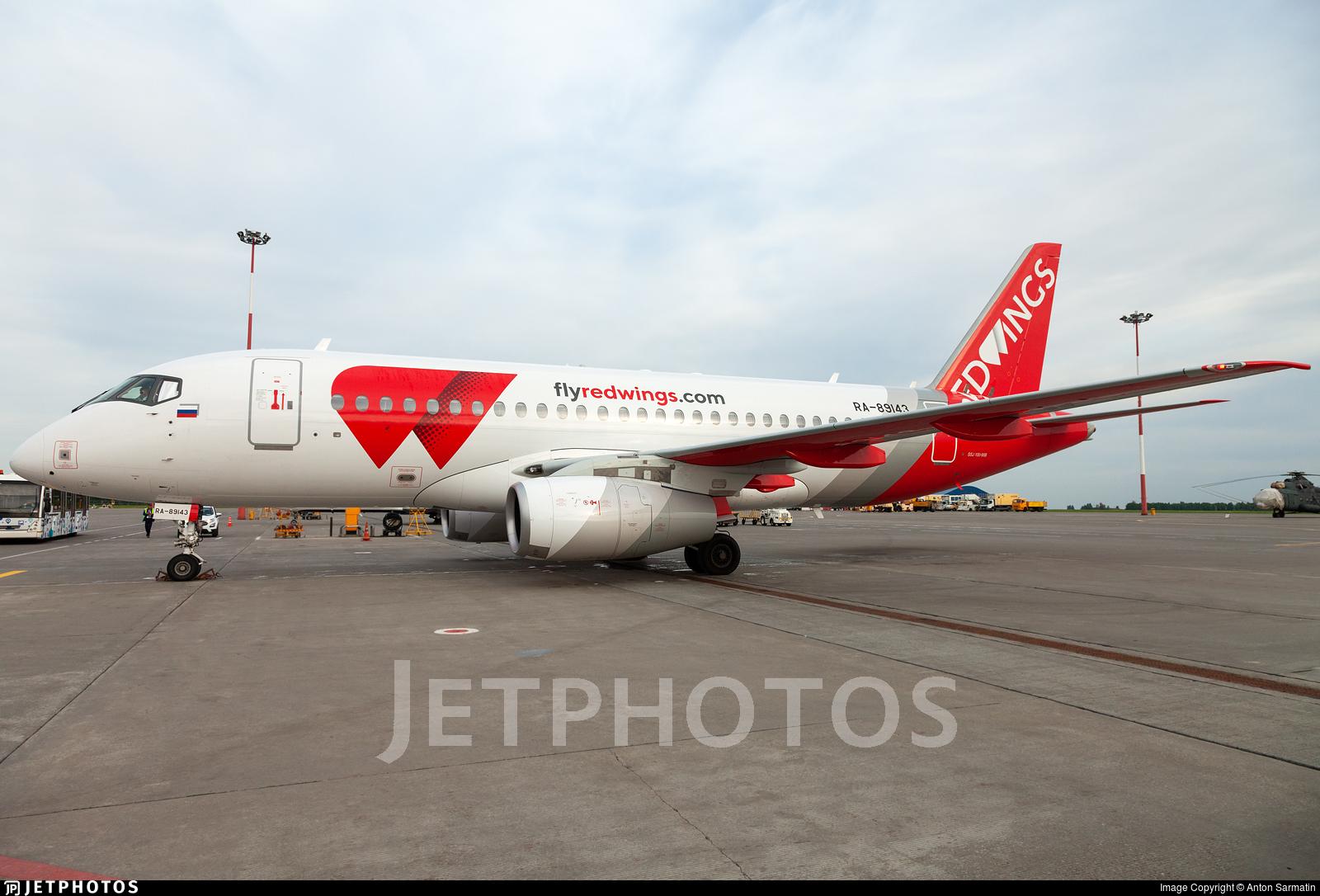 RA-89143 - Sukhoi Superjet 100-95B - Red Wings