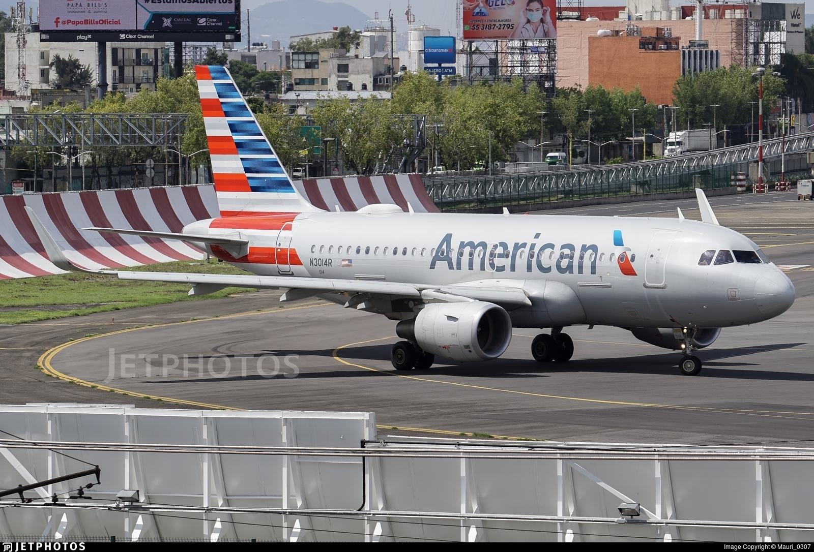 N3014R - Airbus A319-115 - American Airlines
