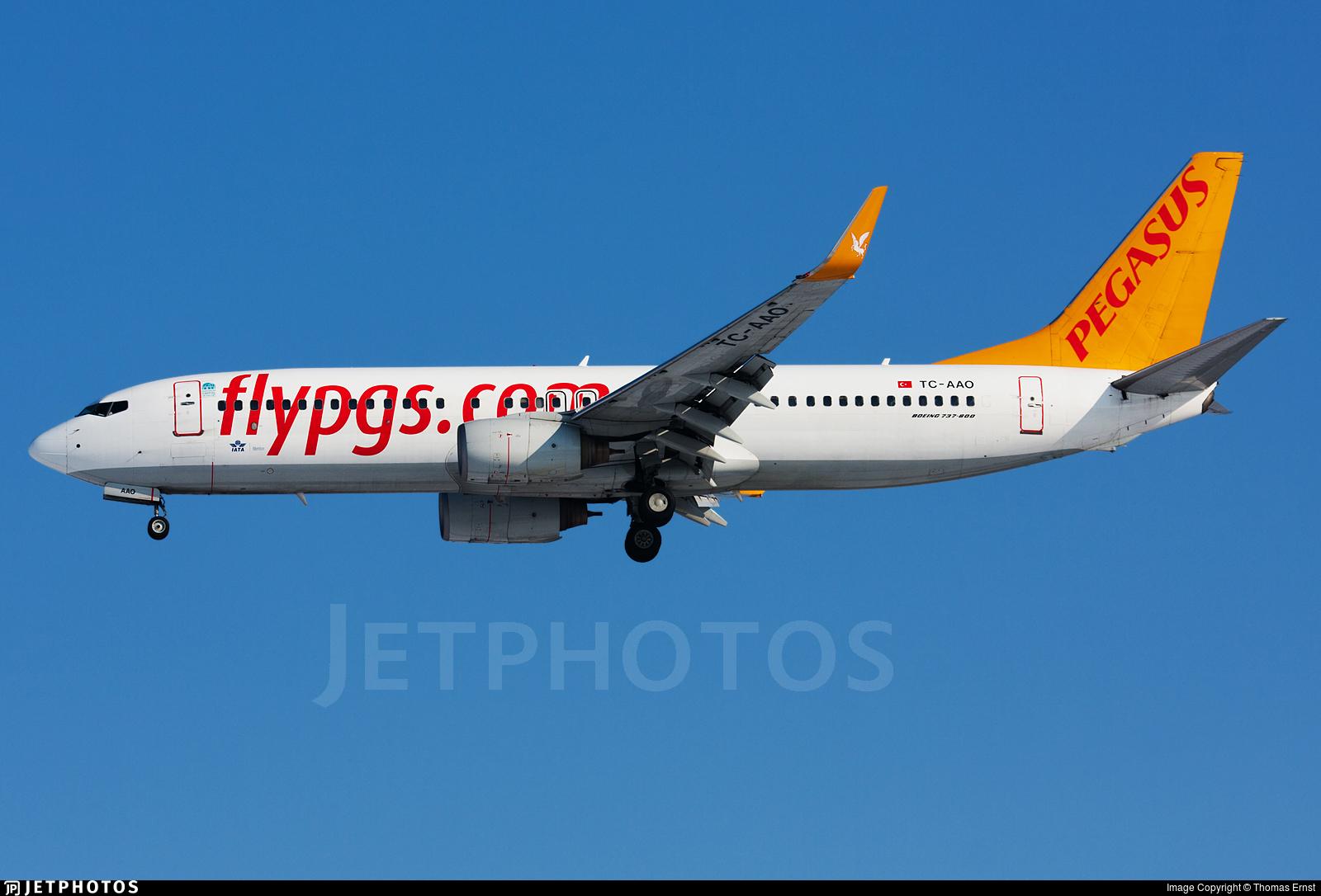 TC-AAO - Boeing 737-86N - Pegasus Airlines