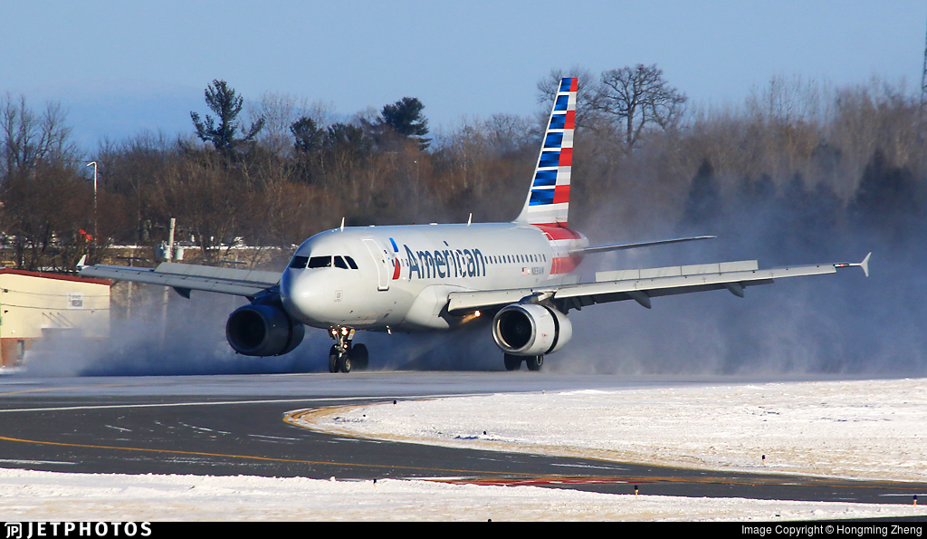 N831aw Airbus A319 132 American Airlines Hongming