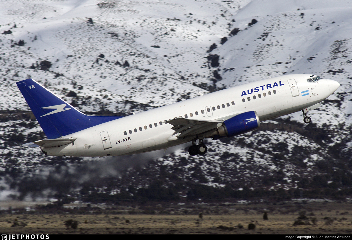 LV-AYE - Boeing 737-5H6 - Austral Líneas Aéreas