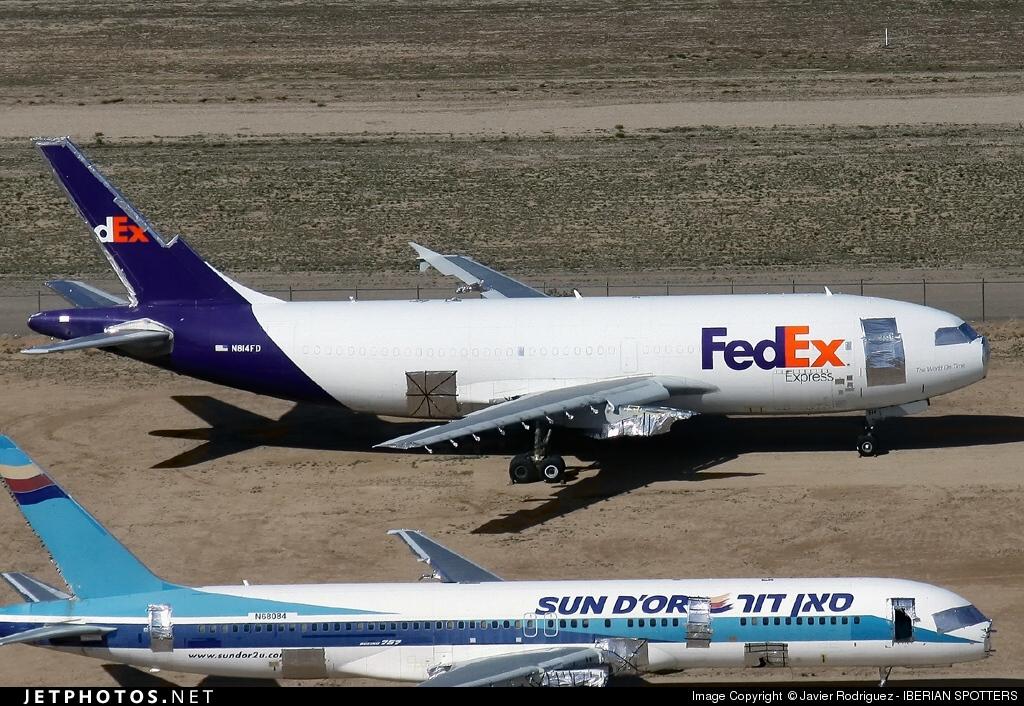 N814FD - Airbus A310-324 - FedEx