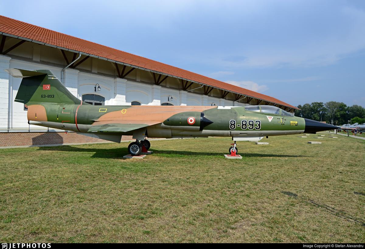63-893 - Canadair CF-104D Starfighter - Turkey - Air Force