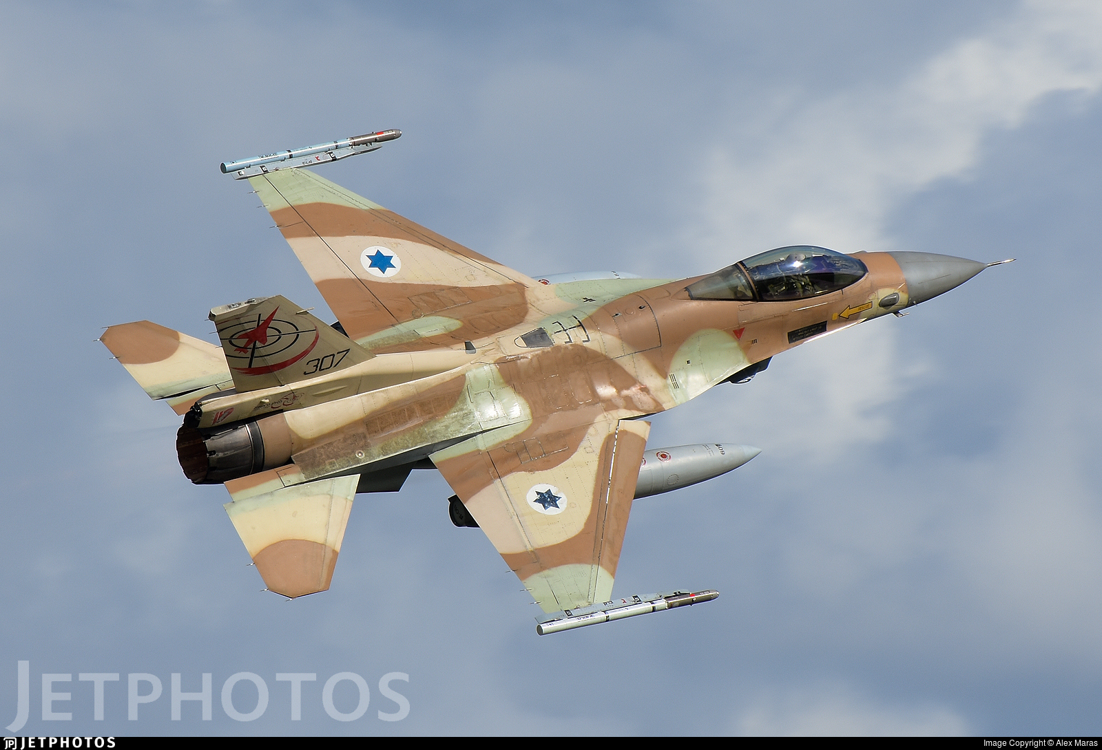 307 - Lockheed Martin F-16C Barak - Israel - Air Force