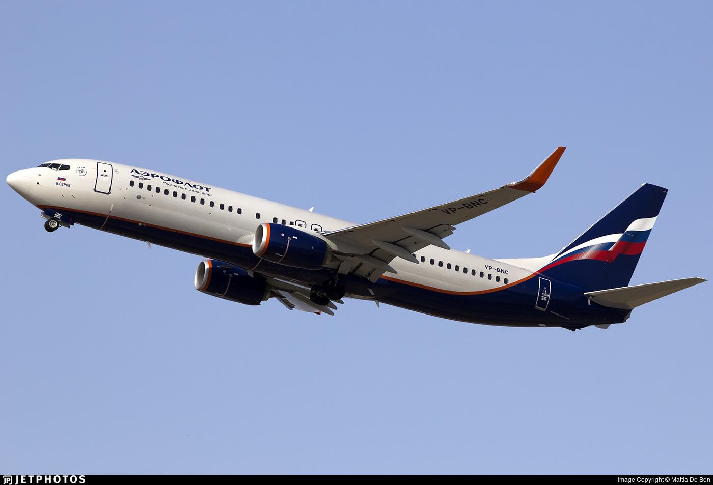 VP-BNC - Boeing 737-8LJ - Aeroflot