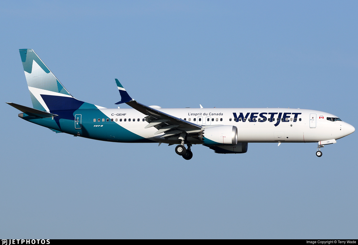 C-GEHF - Boeing 737-8 MAX - WestJet Airlines