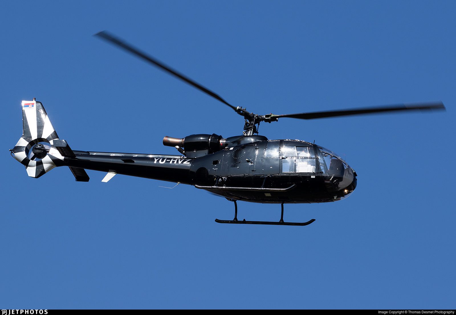YU-HVZ - Aérospatiale SA 341G Gazelle  - Private