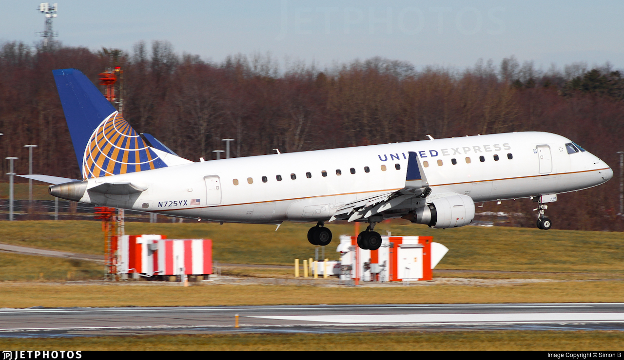 N725YX - Embraer 170-200LR - United Express (Republic Airlines)