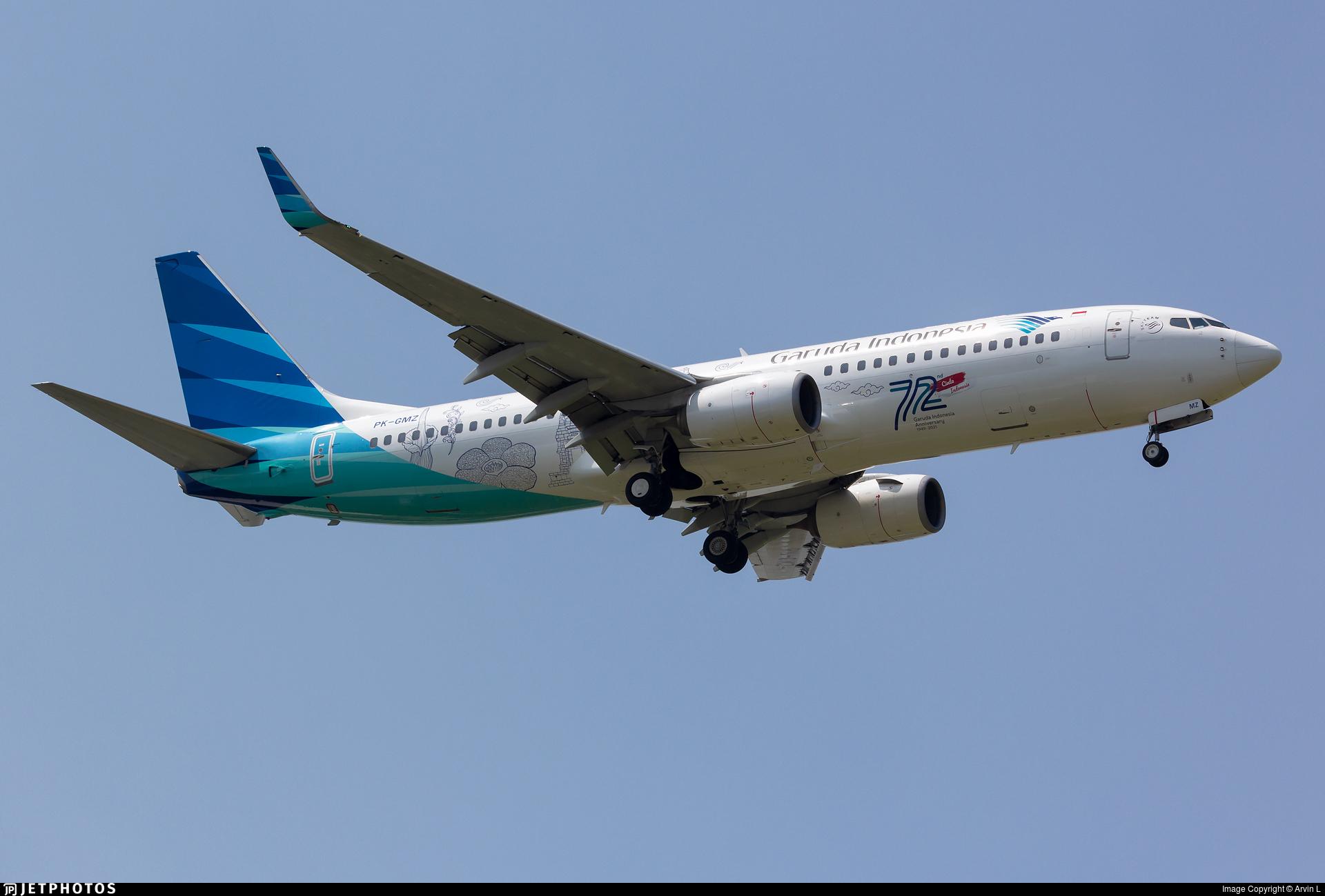 PK-GMZ - Boeing 737-8U3 - Garuda Indonesia