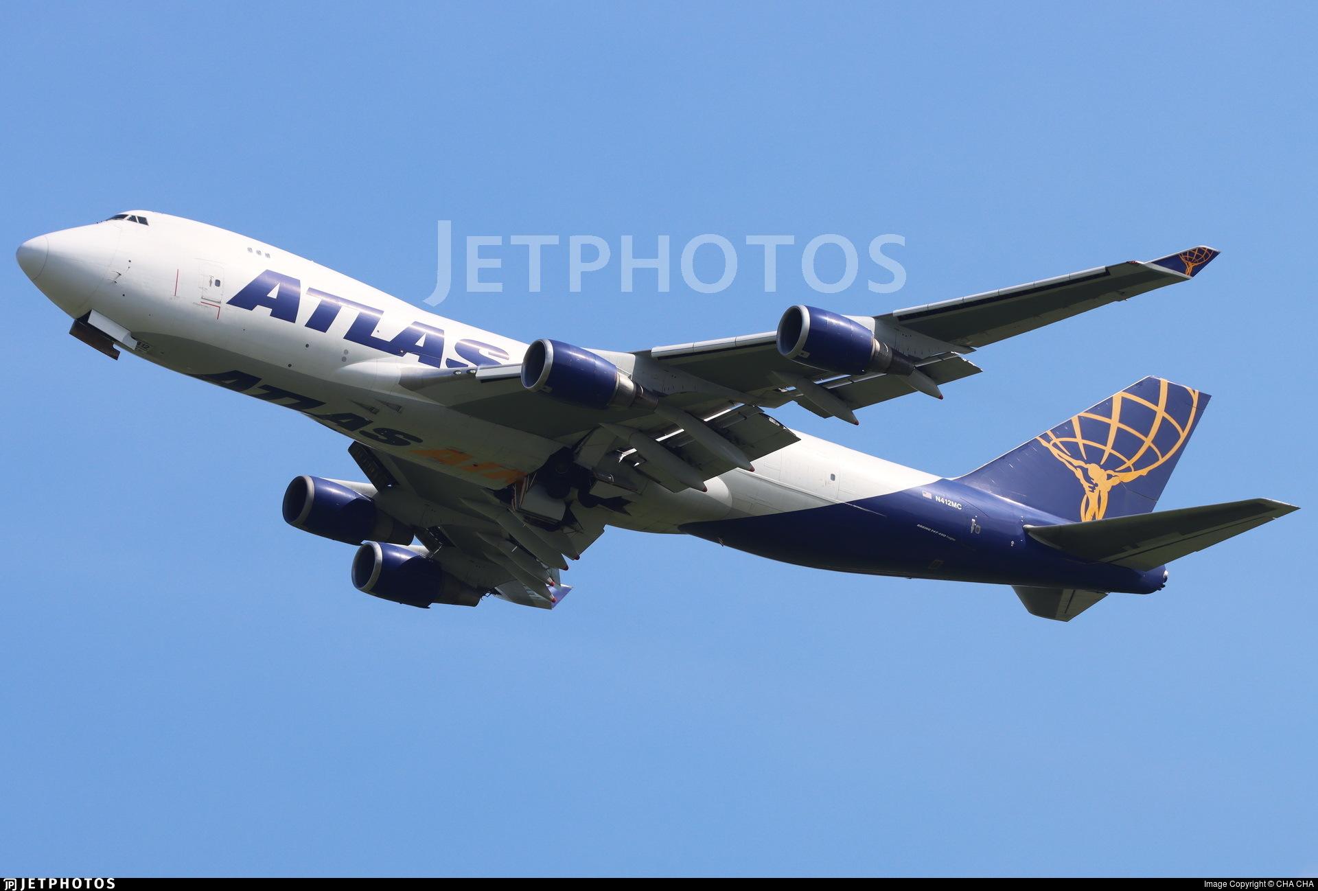 N412MC - Boeing 747-47U(F) - Atlas Air