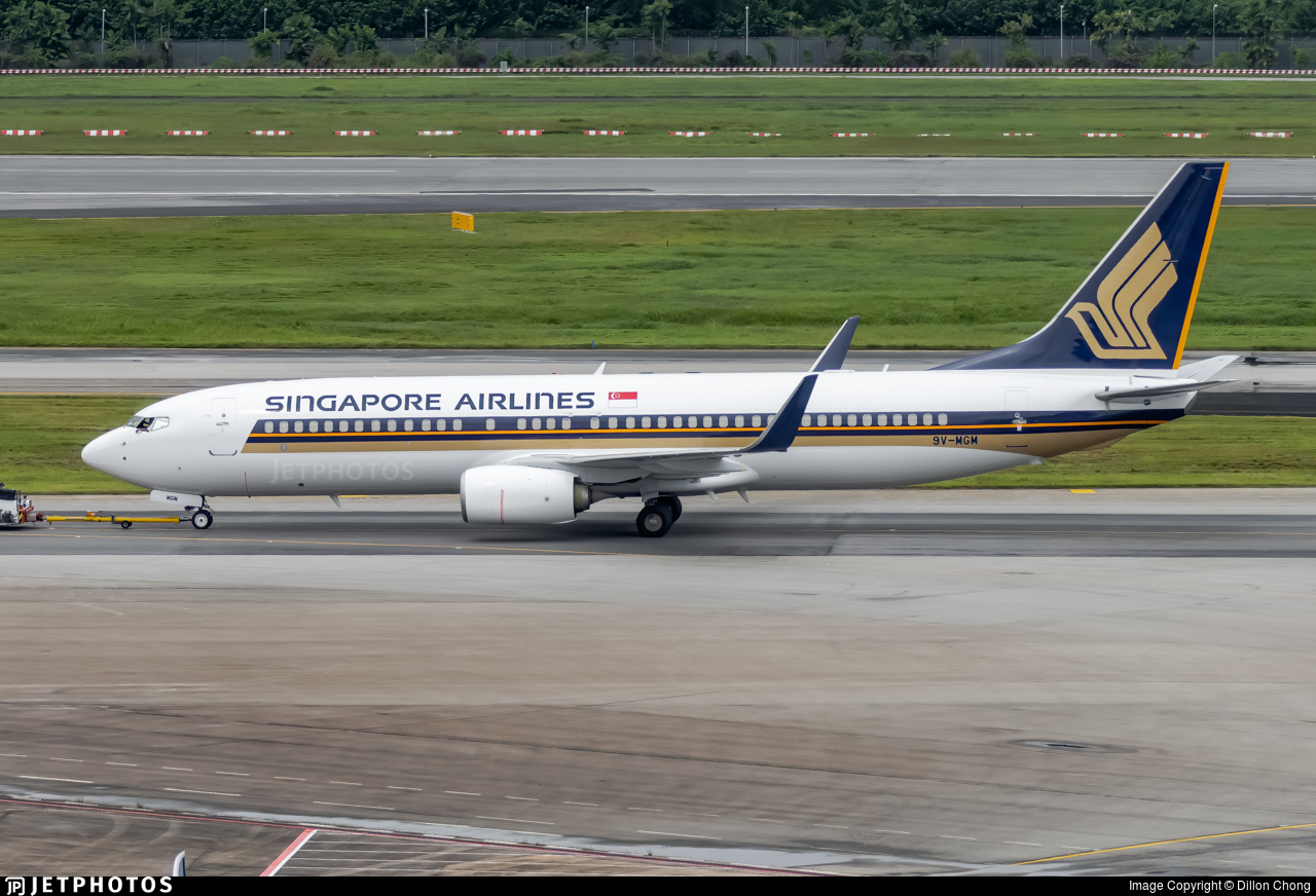 9V-MGM - Boeing 737-8SA - Singapore Airlines
