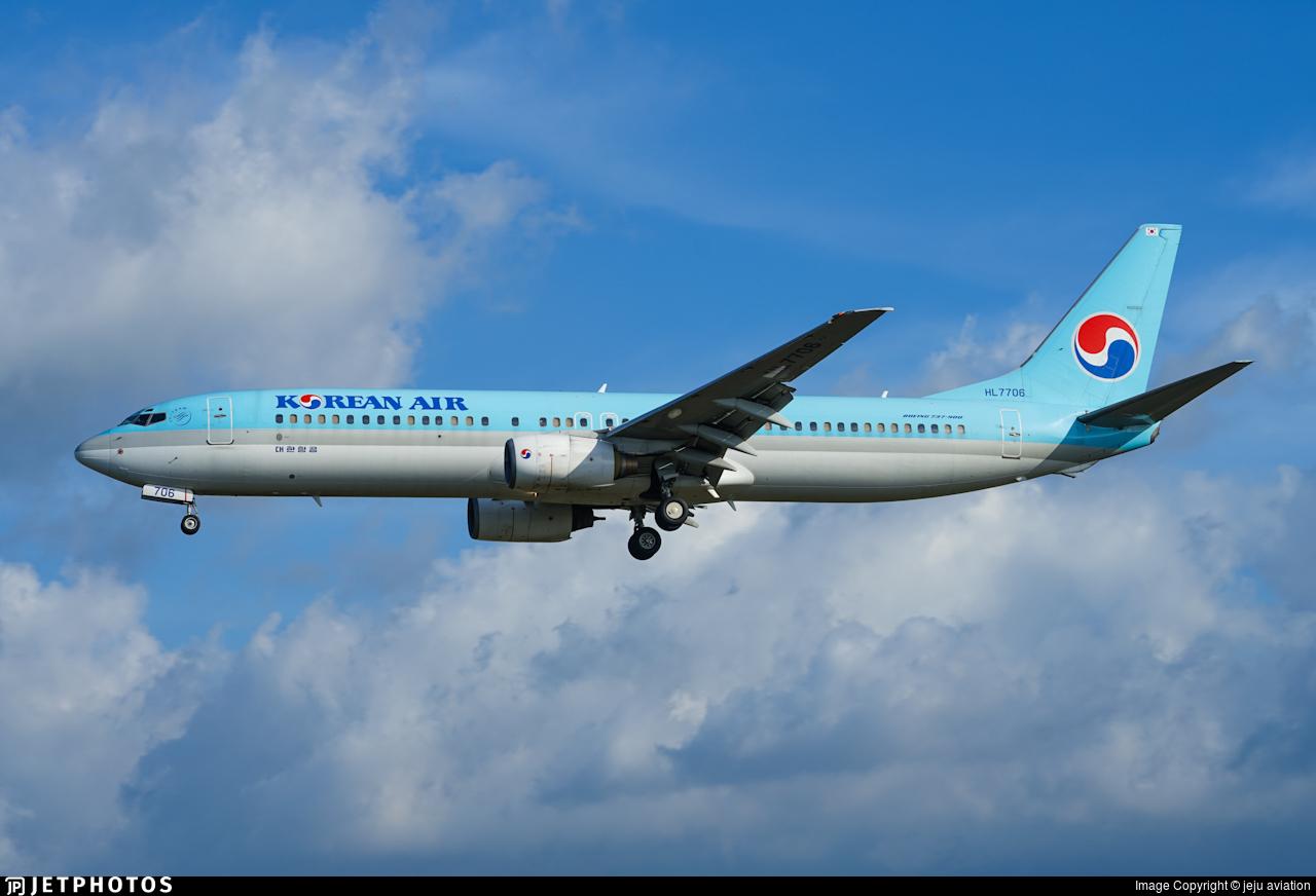 HL7706 - Boeing 737-9B5 - Korean Air