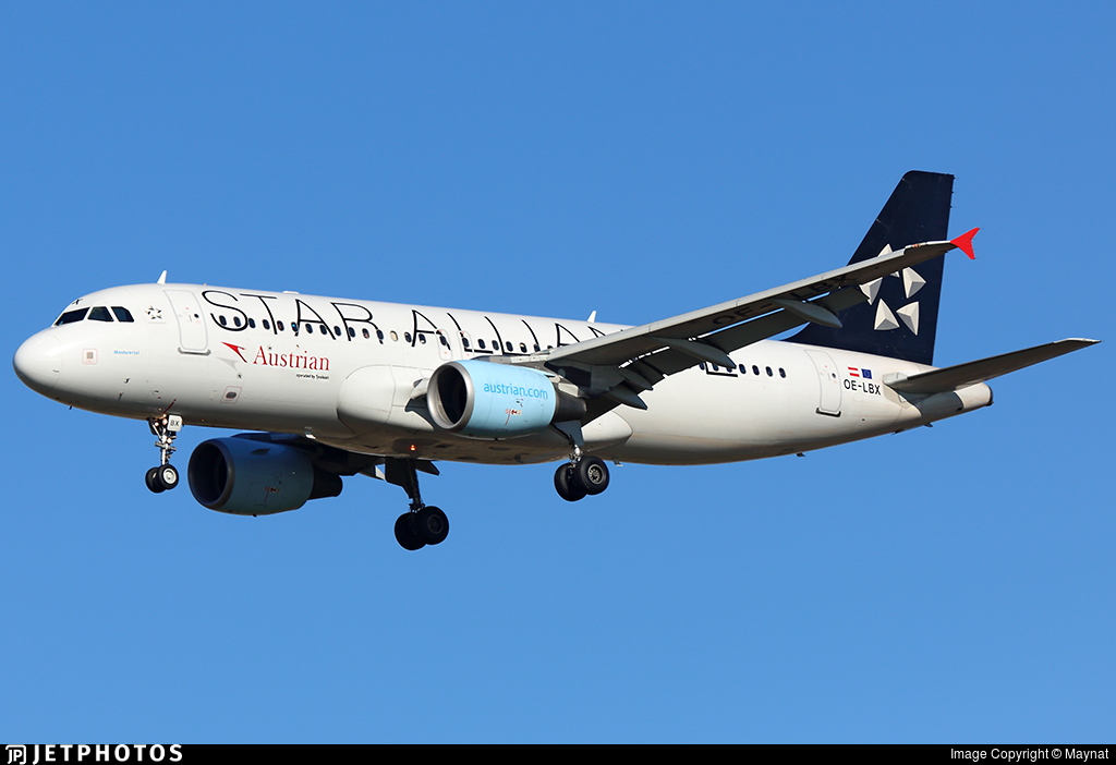 OE-LBX - Airbus A320-214 - Austrian Airlines (Tyrolean Airways)