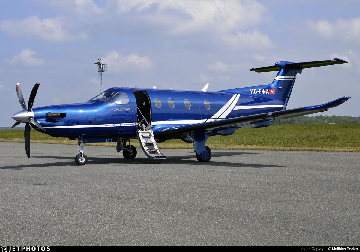HB-FWA - Pilatus PC-12/47E - Switzerland - Bundesamt f�r Zivilluftfahrt (Federal Office of Civil Aviation)