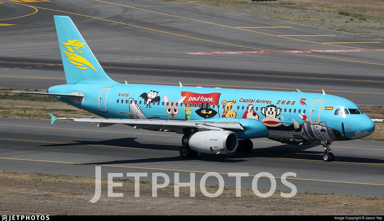 B-6725 | Airbus A320-232 | Capital Airlines | Jason Yep