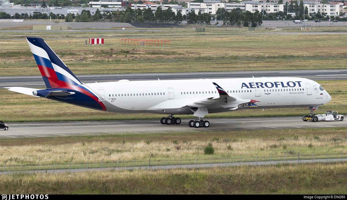 F-WZGO - Airbus A350-941 - Aeroflot