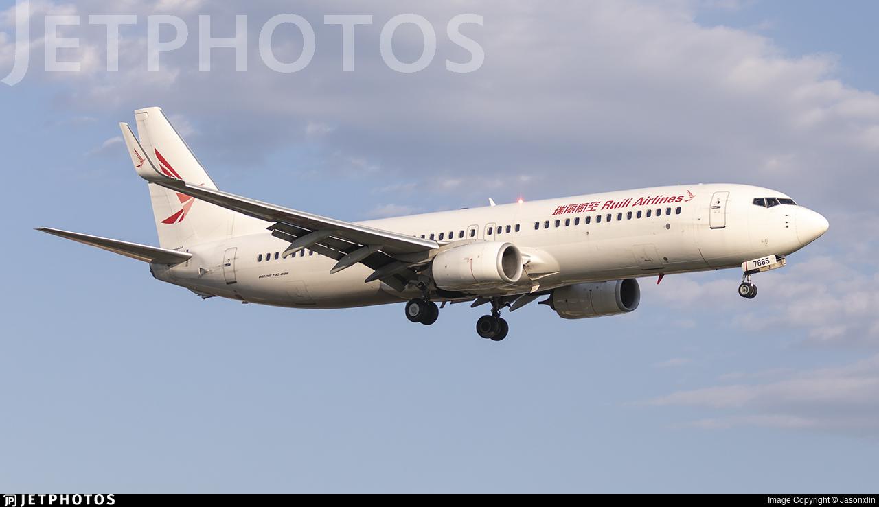 B-7865 - Boeing 737-86J - Ruili Airlines