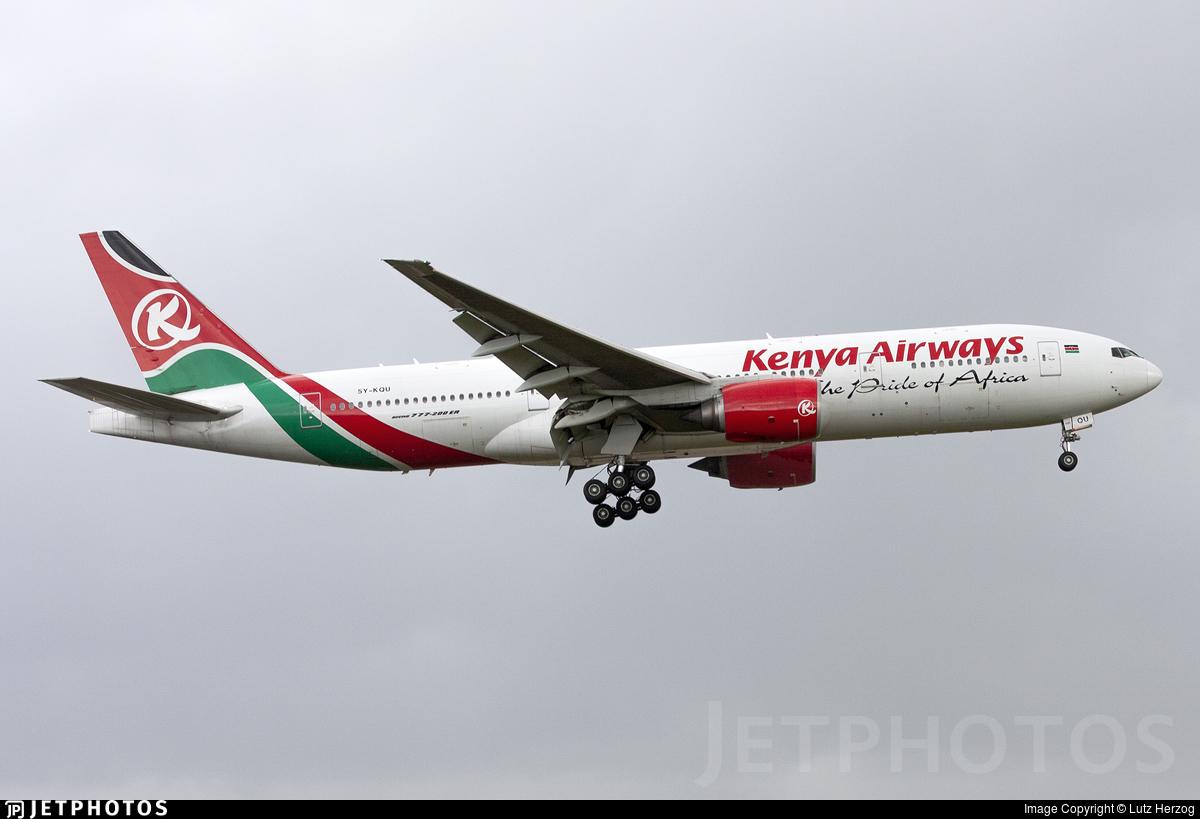 5Y-KQU - Boeing 777-2U8(ER) - Kenya Airways