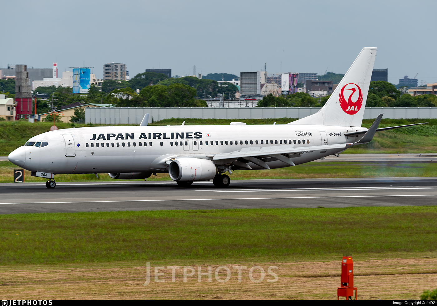 JA344J - Boeing 737-846 - Japan Airlines (JAL)