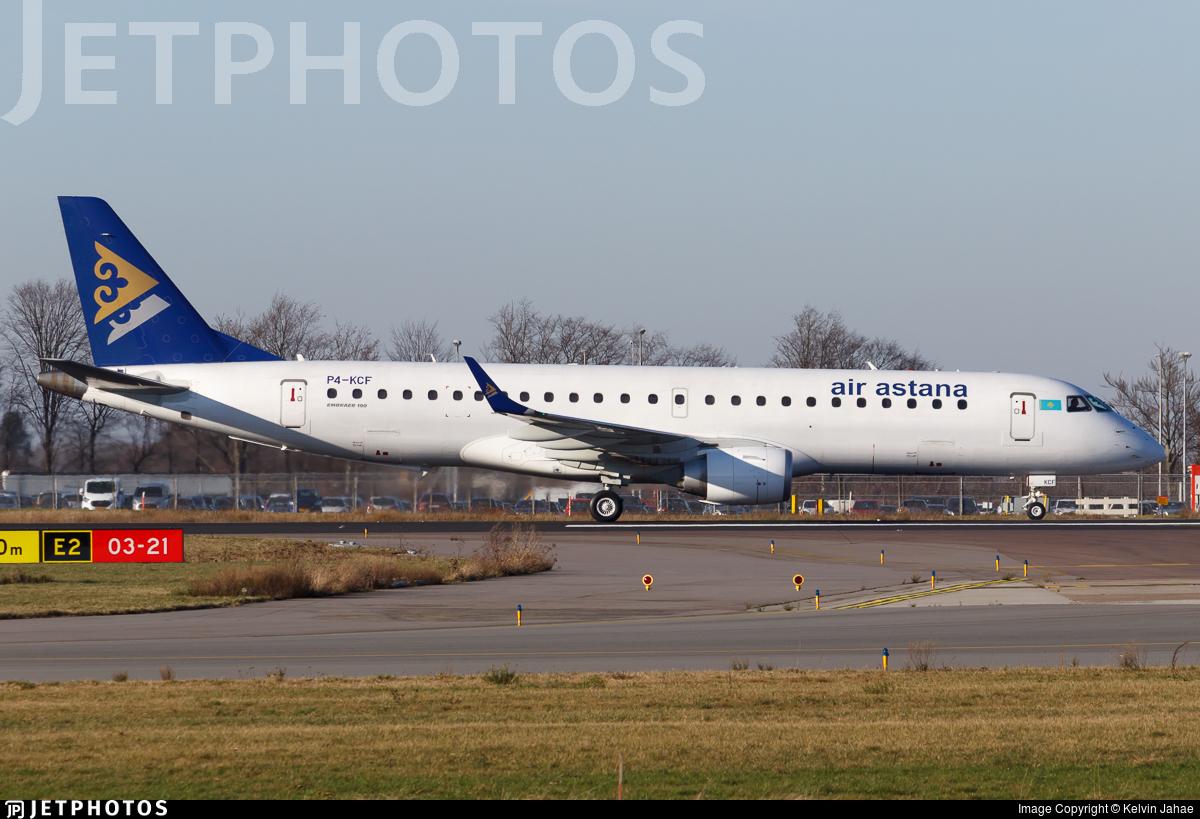 P4-KCF - Embraer 190-100LR - Air Astana