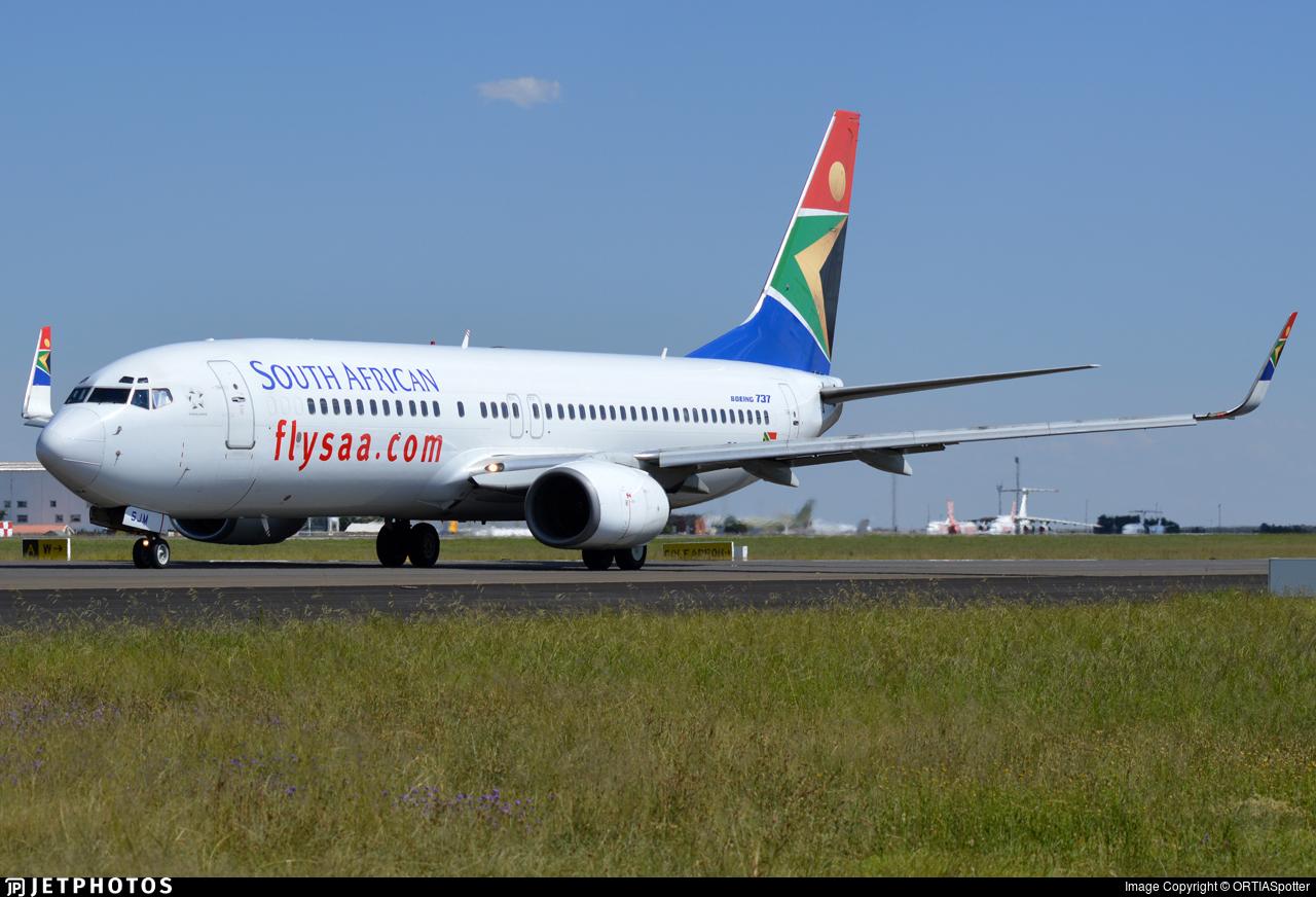 ZS-SJM - Boeing 737-85F - South African Airways
