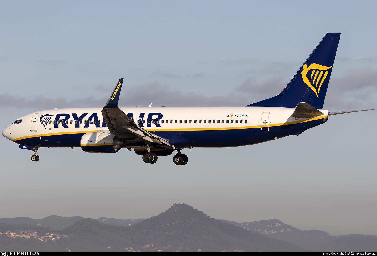 EI-DLW - Boeing 737-8AS - Ryanair