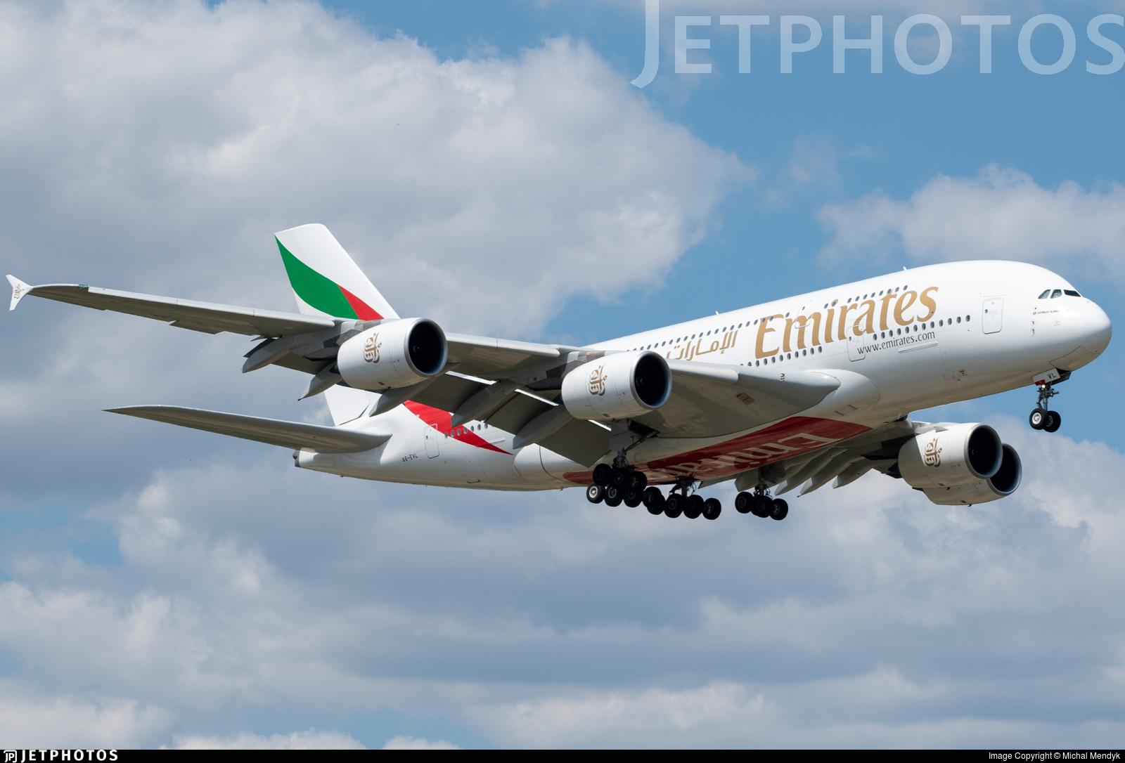 A6-EVL - Airbus A380-842 - Emirates