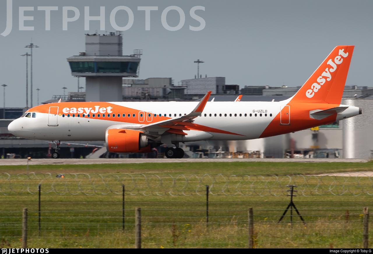 G-UZLD - Airbus A320-251N - easyJet