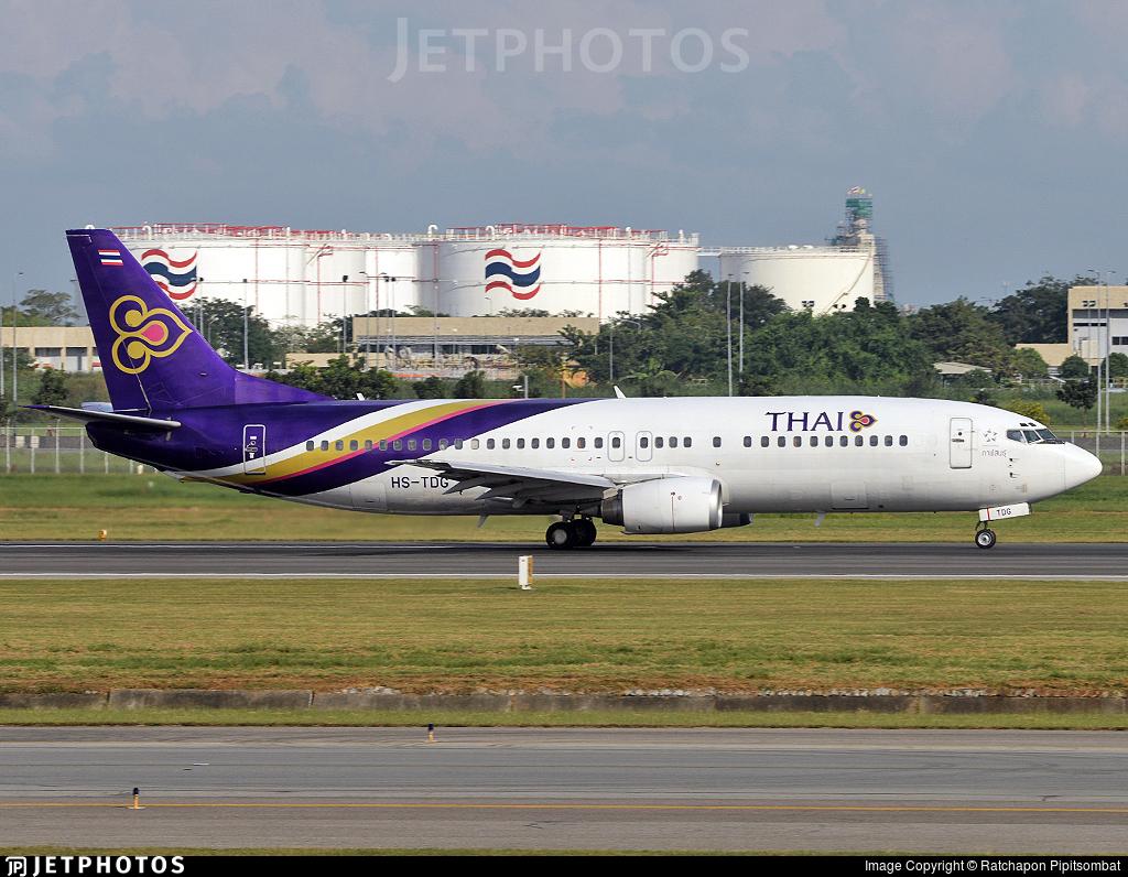 HS-TDG - Boeing 737-4D7 - Thai Airways International