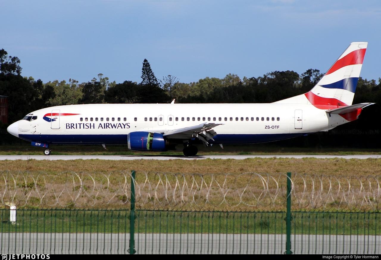 ZS-OTF - Boeing 737-436 - British Airways (Comair)